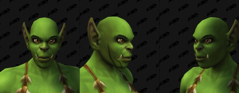Face Tattoos - Female Orc 09