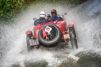 Federico Goettsche Bebert & Michael Goettsche Bebert in their Alfa Romeo MM Supercharged on the Royal Automobile Club 1000 Mile Trial 2015