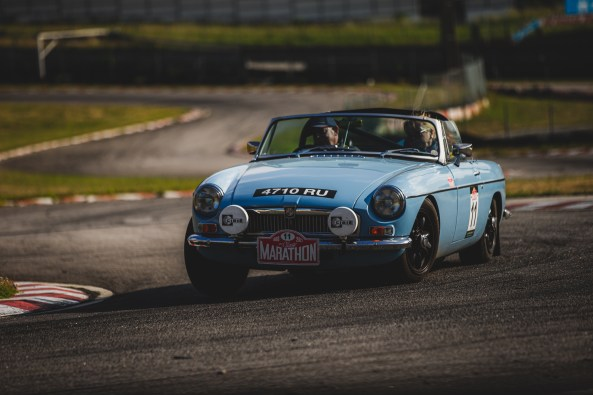 """HERO-ERA Classic Marathon 2021. """"11 Gary Johnson + Susan Johnson , MG B"""" The event that started the classic rallying scene back in 1988, travels through Northern Spain and Portugal in its latest incarnation."""