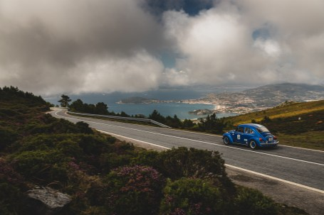"""HERO-ERA Classic Marathon 2021. """"24 Thomas Herold + Marion Herold , VW Beetle 1303 S"""" The event that started the classic rallying scene back in 1988, travels through Northern Spain and Portugal in its latest incarnation."""
