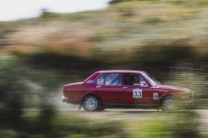 "HERO-ERA Classic Marathon 2021. ""33 Richard Leggett + Julian Green , Alfa Romeo Alfetta saloon"" The event that started the classic rallying scene back in 1988, travels through Northern Spain and Portugal in its latest incarnation."