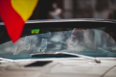 """HERO-ERA Classic Marathon 2021. """"28 Dominik Lingg + Kaspar Wittwer , Chevrolet Camaro Convertible"""" The event that started the classic rallying scene back in 1988, travels through Northern Spain and Portugal in its latest incarnation."""