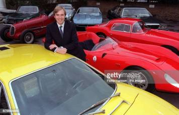 Robert Brooks of Brooks auctioneers with some of the seventeen Maserati cars which have been saved from auction in Britain by a syndicate of Italian businessmen who banded together to buy them outright for a museum. The deal was disclosed today (Thursday) by the London auctioneers, who were involved in tense negotiations with the owners of Officine Alfieri Maserati and the syndicate. Photo by Fiona Hanson/PA. SEE PA STORY SALE Maserati. (Photo by Fiona Hanson - PA Images/PA Images via Getty Images)
