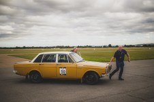 "Hero Challenge 3 2021, Scrutineering. ""50 Jim Chapman + Rob Morgan , Volvo 144, 1974"""