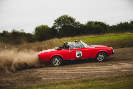 "Hero Challenge 3 2021, Bicester to Banbury. ""49 Graeme Bolt + Caroline Bolt , Fiat Spyder 124, 1974"""