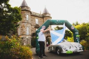 """Scottish Malts 2021, """"8 Christian von Sanden + Alexander von Bernewitz , Porsche 356 Convertible D"""", Day 1 Dalmahoy Hotel & Country Club, Edinburgh, to Atholl Palace Hotel, Pitlochry."""