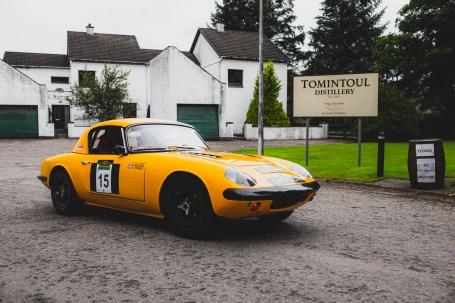 "Scottish Malts 2021,""15 Graham Walker + Sean Toohey , Lotus Elan"" , day 2, Atholl Palace Hotel, Pitlochry to Kingsmills Hotel, Inverness."