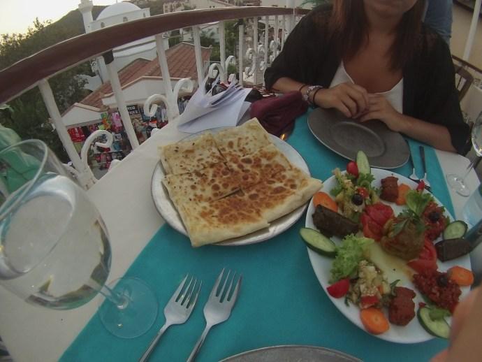 turkish vegan food, mixed mezze