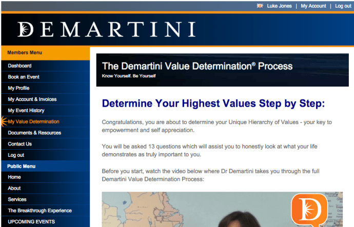 Healthy Habits DeMartini Determine Your Values