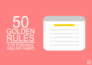 Healthy Habits Golden Rules
