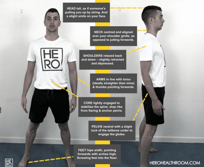 The Hero Warmup Movement Training Posture