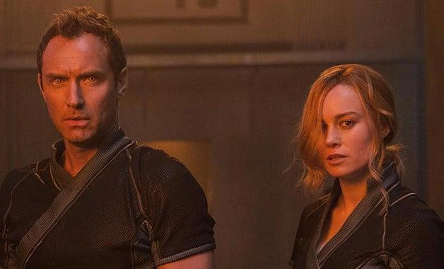 Captain Marvel Brie Larson Carol Danvers Jude Law