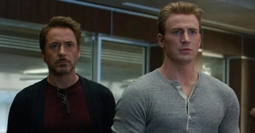 Avengers Endgame Robert Downey Jr. Chris Evans Captain America Iron Man Marvel