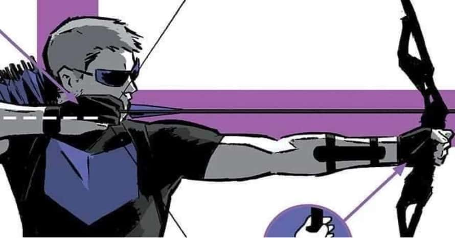 'Hawkeye' BTS Photo Shows Jeremy Renner With Purple Comic Book-Accurate Suit