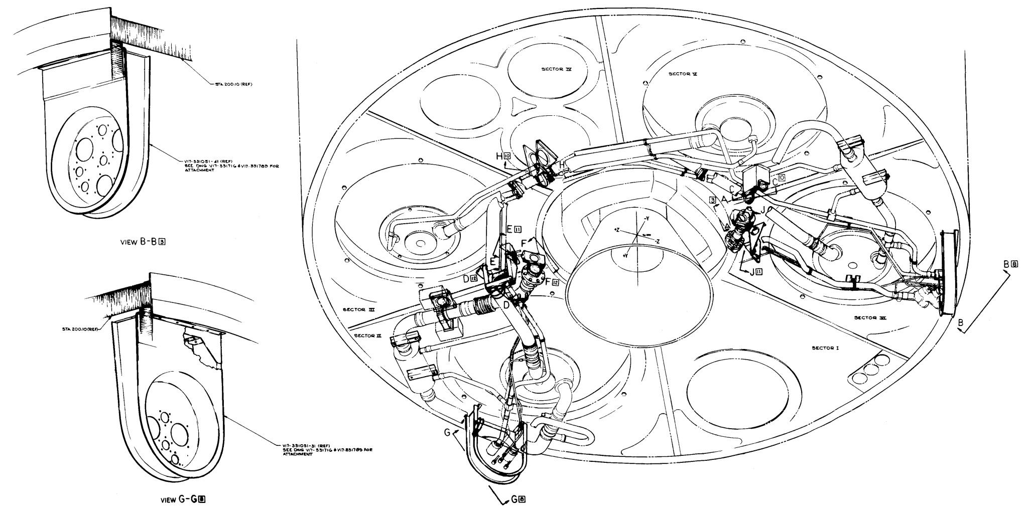 Apollo Service Module Service Propulsion System Sps Servicing Connections