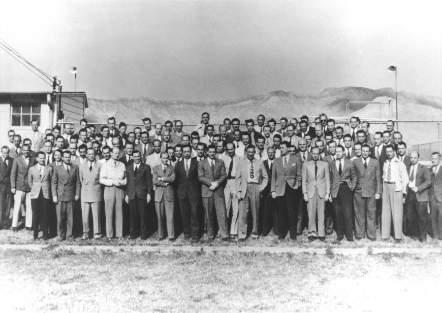 Wernher von Braun German Rocket Team at Fort Ft Bliss Texas Operation Project Paperclip