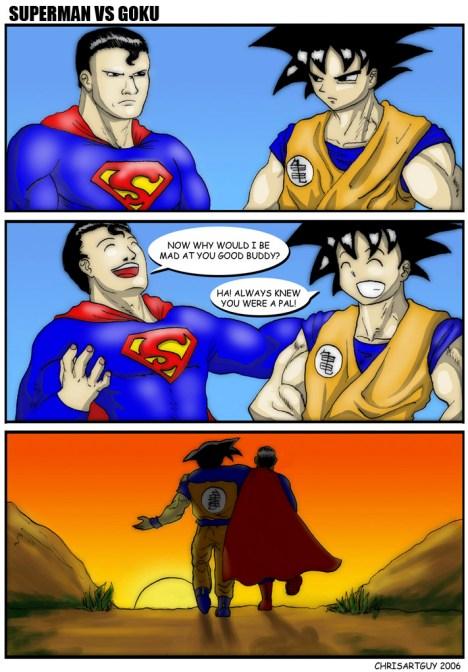 Goku e Superman se tornam amigos