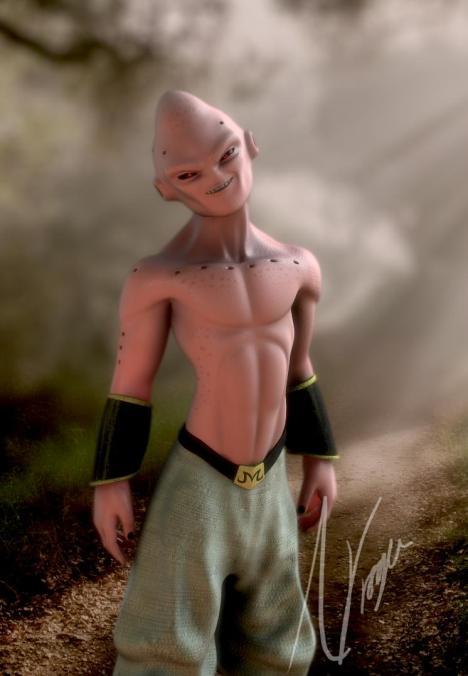 Majin Boo em forma do mal supremo