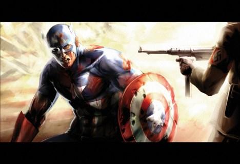 Capitão america desenho ferido