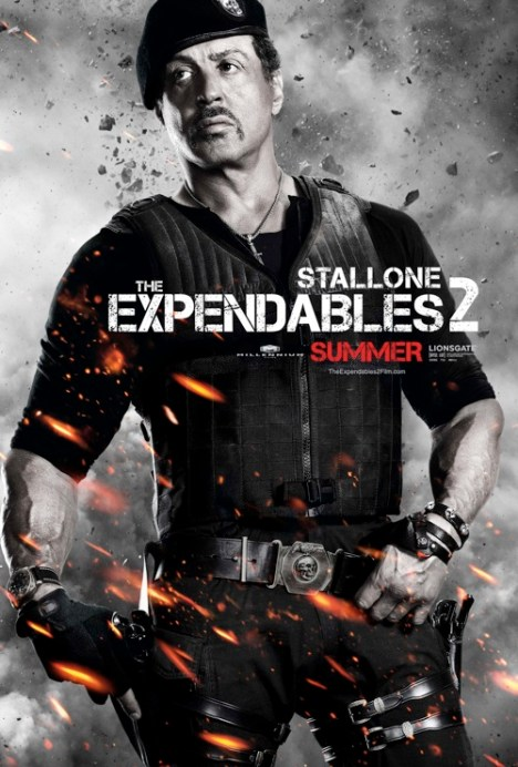 Expendables 2 poster Sylvester Stallone