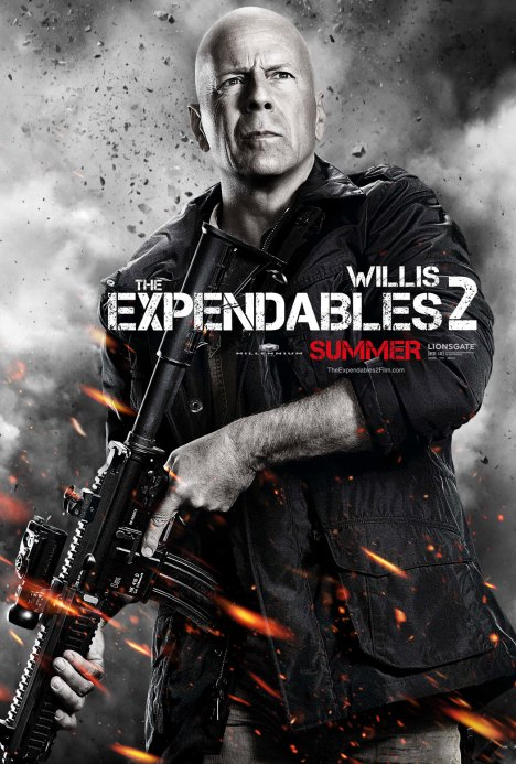 Expendables 2 poster Bruce Willis