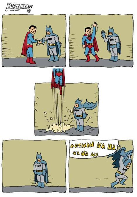 Batman e Superman desaparecendo