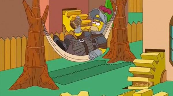 Homer simpson game of thrones abertura de os simpsons