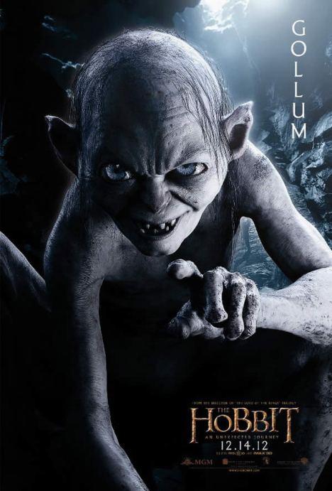 o hobbit gollum poster