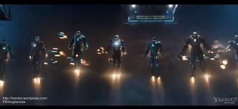homens de ferro 3 todas as armaduras