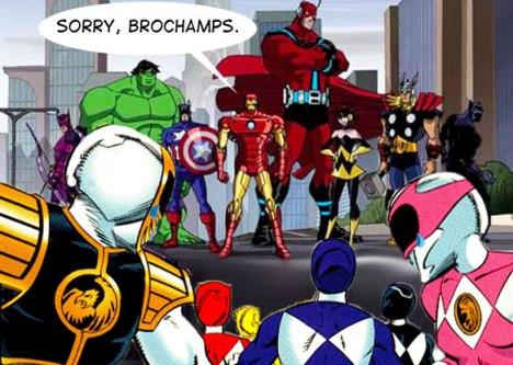 Os Vingadores e Power Rangers