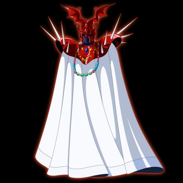 Grande Mestre do Santuário Saga vestido de Ares maligno