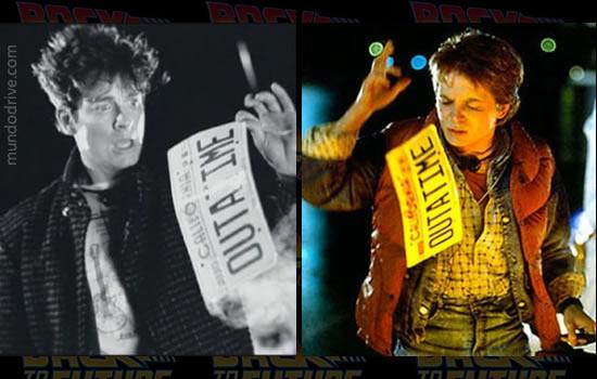 Eric Stoltz em De Volta para o Futuro Marty McFly comparando com Michael J. Fox