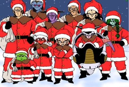Dragon Ball Z natal vilões de papai noel
