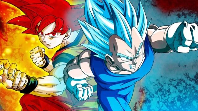 Goku e Vegeta super saiyajin deus