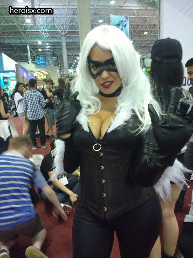 A melhor Gata Negra mulheres cosplays ccxp