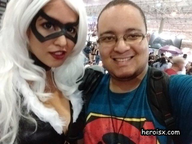 Mauricio Barreto e CCXP gata negra homem aranha marvel
