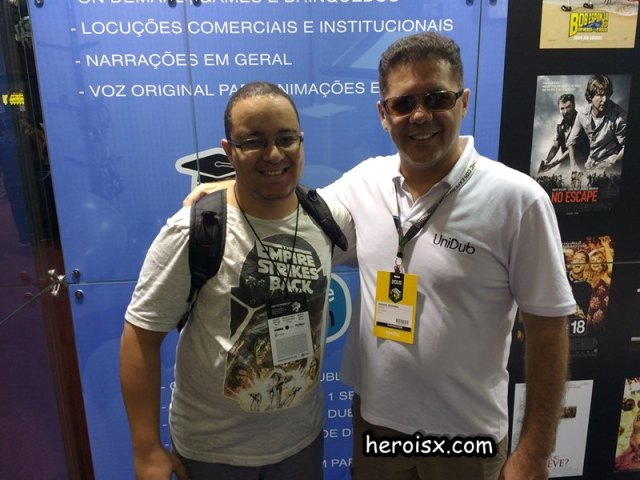 Wendel Bezerra e Mauricio Barreto Heroi X CCXP