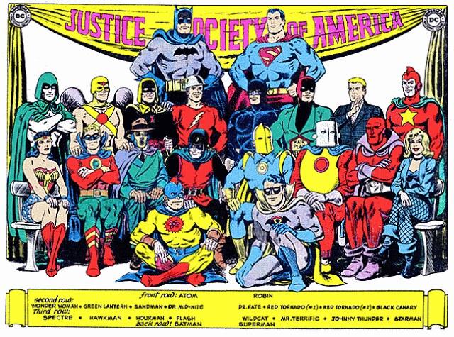Era de Ouro dos quadrinhos DC Comics Sociedade da Justiça da América