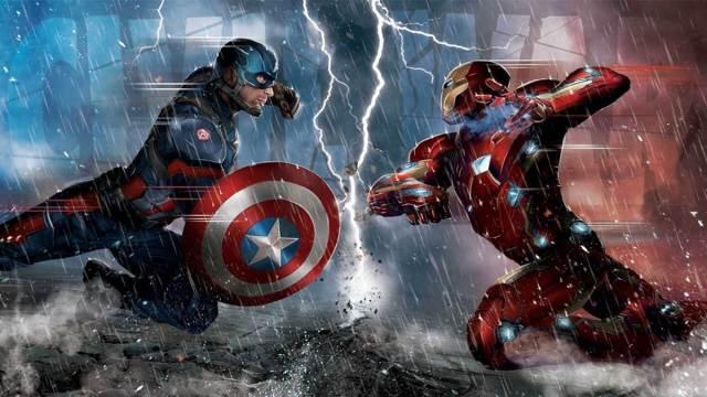 Capitão América Guerra Civil contra o Homem de Ferro filme