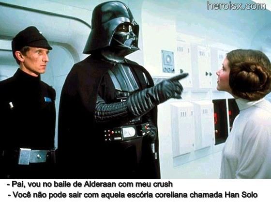 Darth Vader e filha Leia Skywalker Star Wars memes