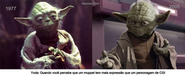 Yoda antiga e nova trilogia