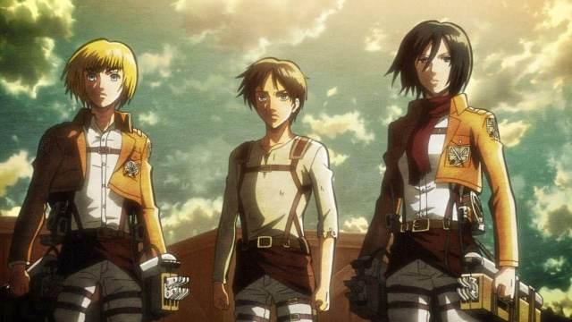 Shingeki no Kyojin temporada 2 Eren Mikasa Armin