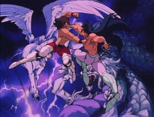 Seiya vs Shiryu cavaleiros de bronze