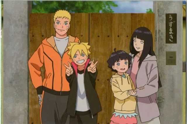 Naruto Hinata Boruto Himawari familia Uzumaki