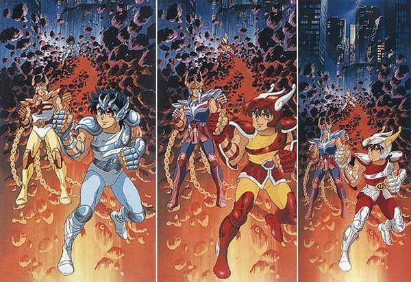 Armaduras dos Cavaleiros do Zodíaco e mudanças no anime!