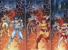 Seiya e Ikki várias versões Armaduras dos Cavaleiros do Zodíaco