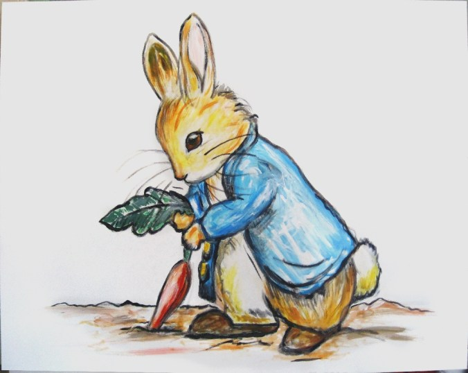 Leinwandbild privat – Kopie Beatrix Potter - Roger Rabbit