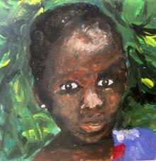 Kind in Tanzania (20 x 20 cm)