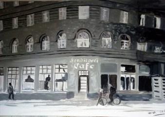 Hannover Café und Wohnhaus (60 x 90 cm)
