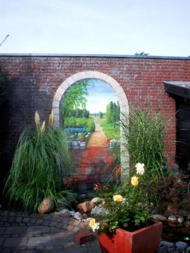 Trompe-l'oeil-Fassadenmalerei in Pattensen